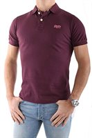 Superdry Herren Polo - Shirt ın Weinrot