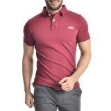 Superdry Herren Polo - Shirt in rrot Logo in gold